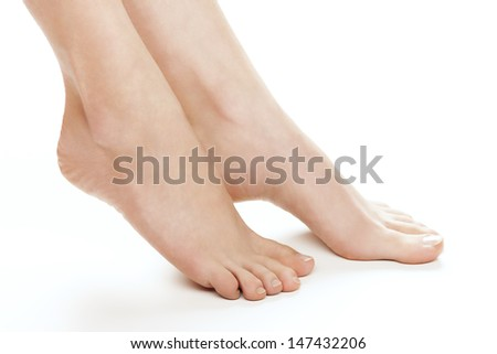 Female foot. Studio shot. - stock photo