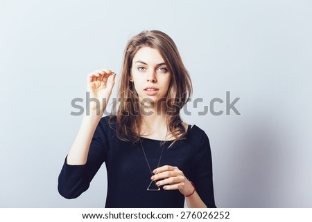 female gesture conductor.  - stock photo