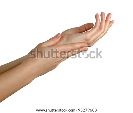 Female gesturing hands