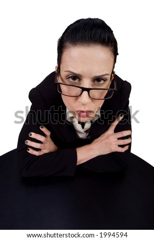 Female giving you a serious look - stock photo