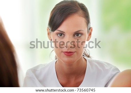 Female gynecologist doctor. - stock photo