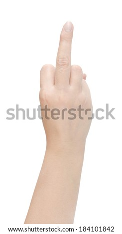female hand the isolated on white background