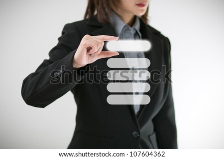 Female hand with a chart - stock photo