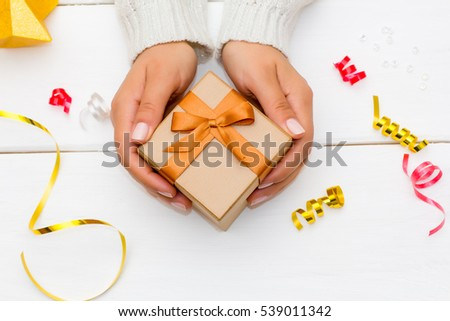 Hands Holding Gift Stock Images, Royalty-Free Images ...