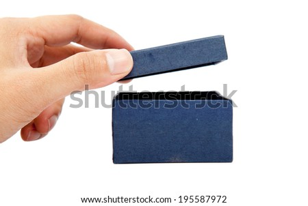 Female hands opening a gift box. - stock photo