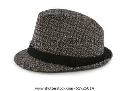 Female hat isolated on white - stock photo