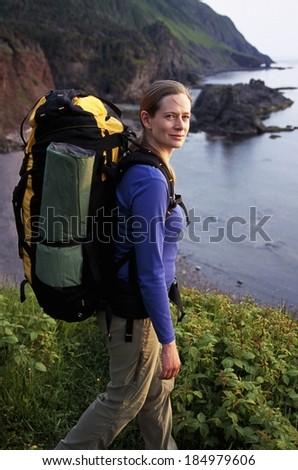 Female Hiker - stock photo