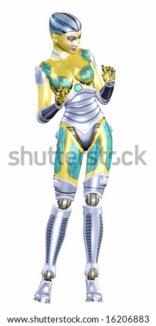 Female Humanoid - stock photo