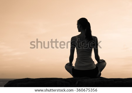 Female in a relaxing pose.  - stock photo