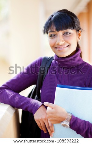 female indian high school student portrait - stock photo