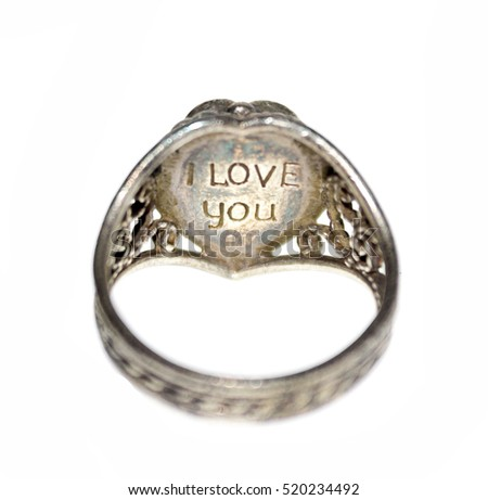 female jewelry ring with an engraving