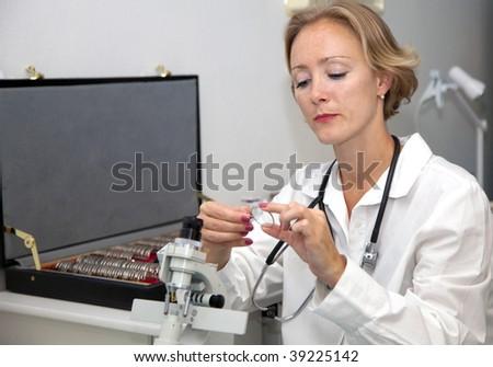 female medical professional - stock photo