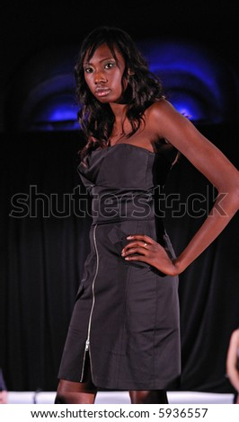 Female model at fashion show