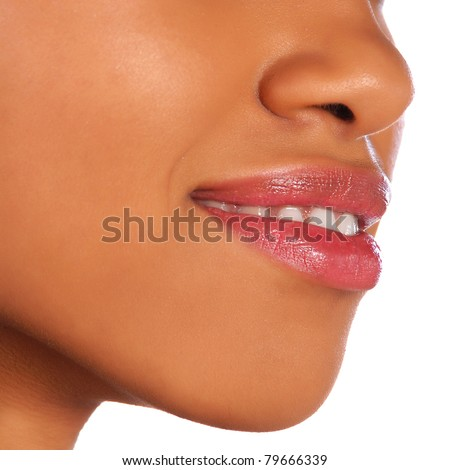 Female mouth - stock photo