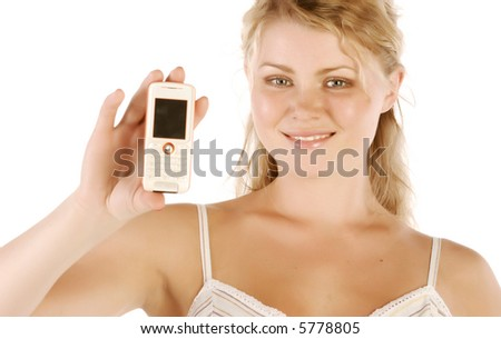 female & phone