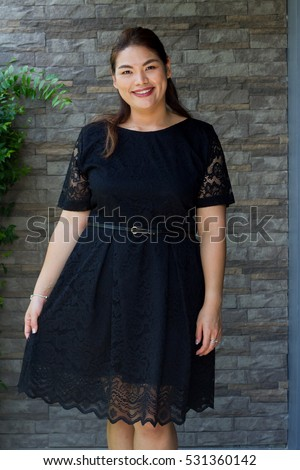 Female Portrait Plussize Concept Smiling Happy Stock Photo Royalty