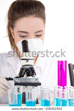 Female researcher in laboratory