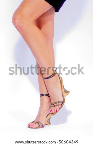 Female sandals - stock photo
