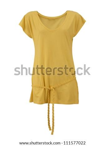 female shirt isolated on white background - stock photo
