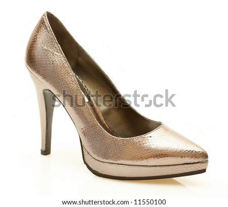 Female shoe on a white background