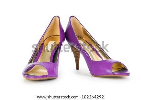 Female shoes in fashion concept - stock photo