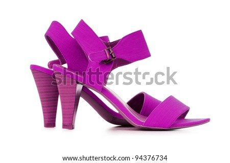Female shoes in fashion concept