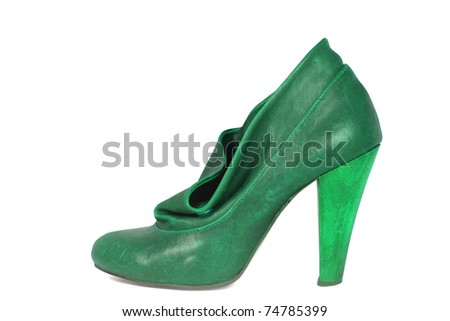 female shoes isolated