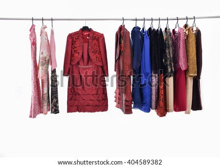 female sundress isolated on hanging-white background