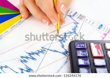 female (woman) account money - stock photo
