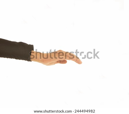 female woman hand  isolated on white   - stock photo