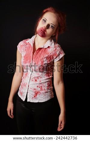 G stage red dress zombie