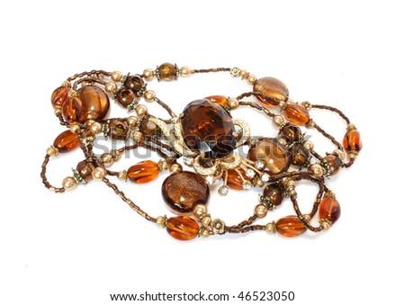 feminine accessories isolated - stock photo