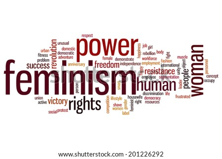Feminism concept word cloud background - stock photo