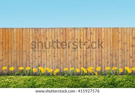 fence at backyard - stock photo