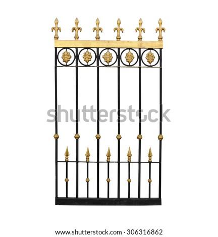 fence isolated on white background - stock photo