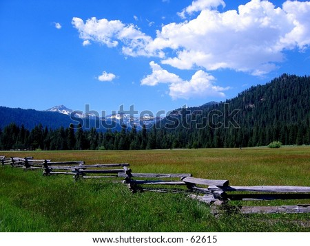 Fence near Lassen National Park, CA