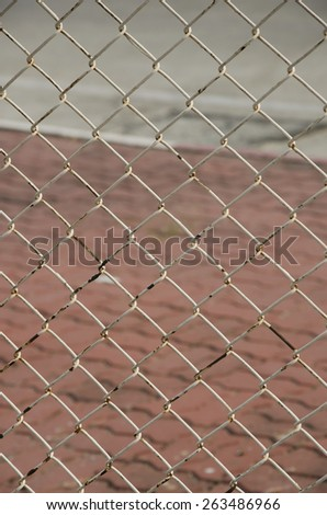 fence of cage - stock photo