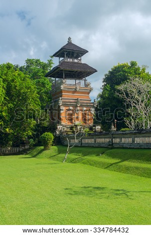 Fence of the temple on the island of Bali - stock photo