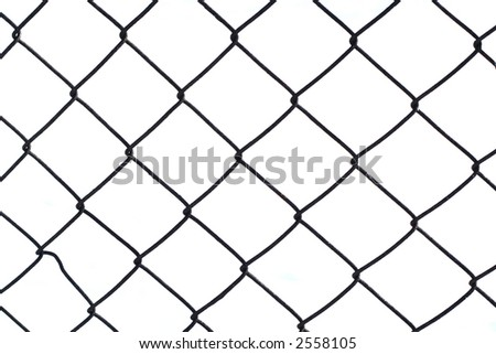 Fence on a white background