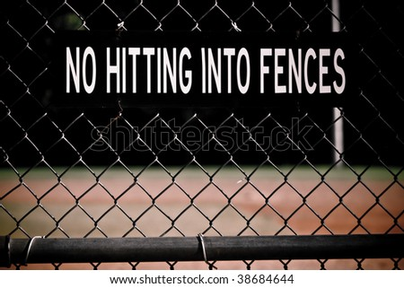 Fence Sign - stock photo