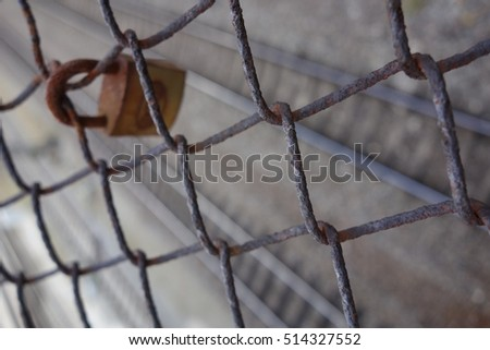 fence with lock