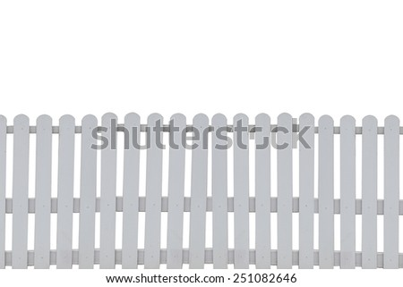 fence wood on white background. - stock photo