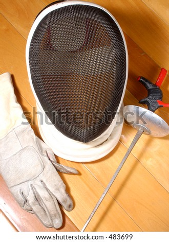 fencing equipment - stock photo