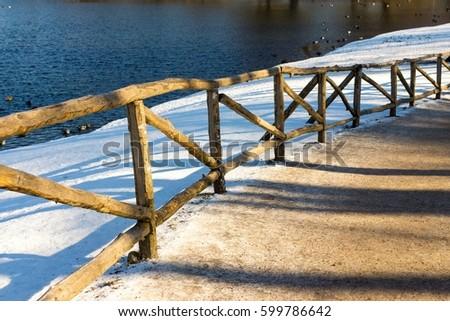 walkway fencing gravel walkway stock images royalty free images vectors