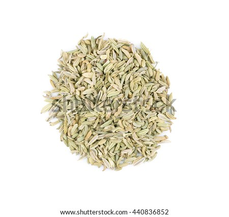 Fennel seeds isolated on white