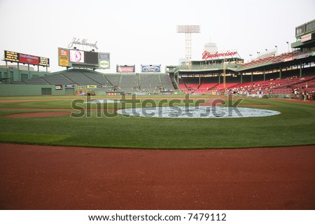 Fenway Park baseball stadium in Boston, Massachusetts - stock photo