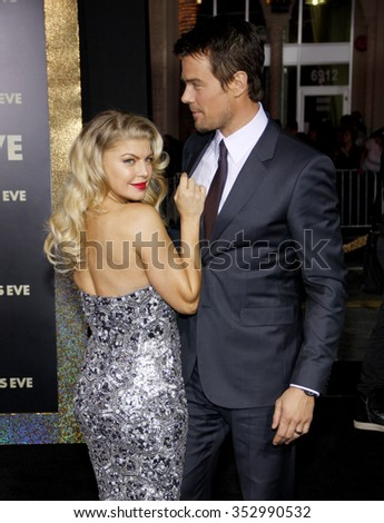 "Fergie and Josh Duhamel at the Los Angeles Premiere of ""New Year's Eve"" held at the Grauman's Chinese Theater, California, United States on December 5, 2011."