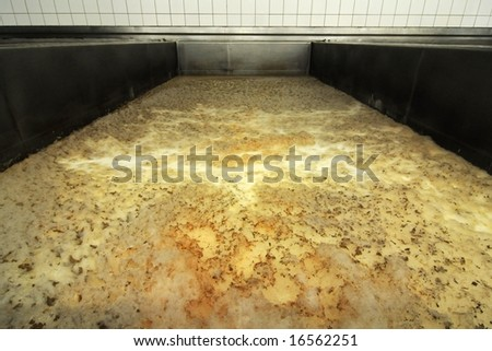 Fermenting cellar in a brewery - stock photo
