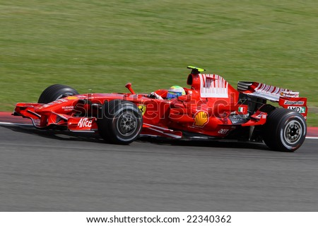 Ferrari Formula 1 racing driver Felipe Massa competing in the British Grand Prix at Silverstone, UK  - 6th July 2008