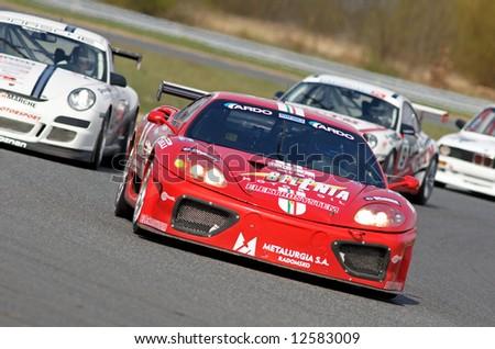 ferrari race car - stock photo